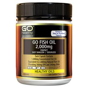 高之源 鱼油 2000毫克 230粒 GO Healthy GO Fish Oil 2000mg Compact 230 Capsules