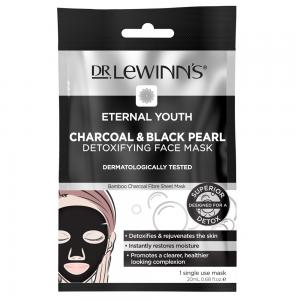 (30岁-35岁+适用)  莱文医生 永恒青春炭黑色珍珠排毒面膜 Dr. Lewinn's Eternal Youth Charcoal & Black Pearl Detoxifying Face Mask 1 Pack