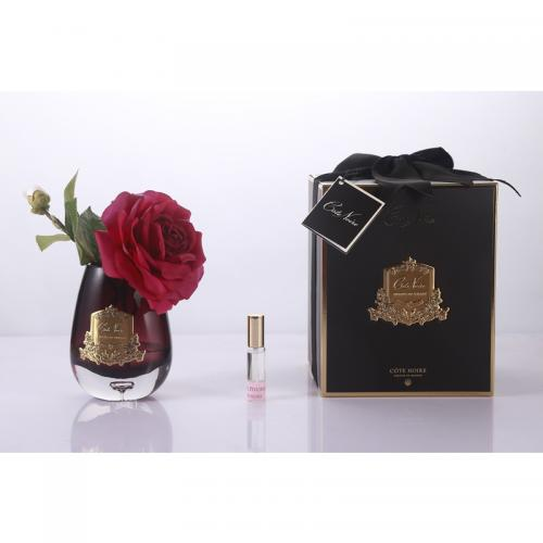 COTE NOIRE -TEAR DROP TEA ROSE BLACK GLASS - CARMI...
